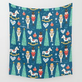 Nutcrackers under the Christmas Tree Wall Tapestry