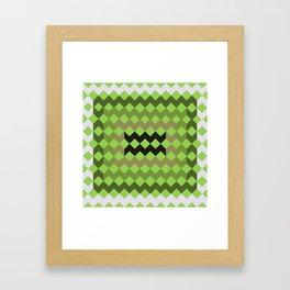 Green Quilt Framed Art Print