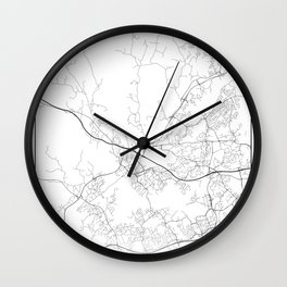 Minimal City Maps - Map Of Espoo, Finland. Wall Clock