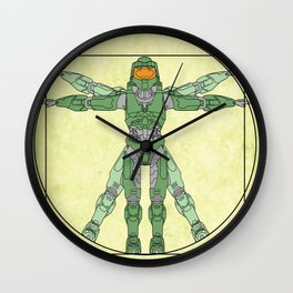 vitruvian Halo Wall Clock