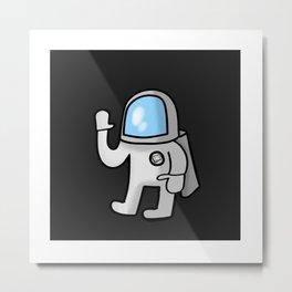 Cute Little Astronaut Metal Print