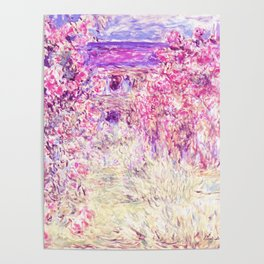 Monet : The House Among the Roses Poster