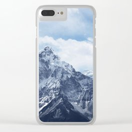 Snowy Mountain Peaks Clear iPhone Case