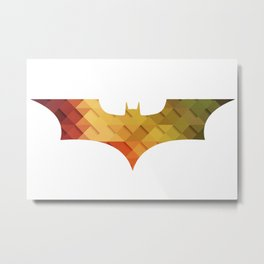 BAT MAN Retro 3d -  Superhero / Comic Metal Print
