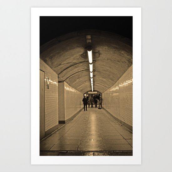Westminster Subway Art Print
