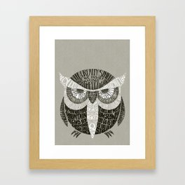 Wise Old Owl Says Framed Art Print
