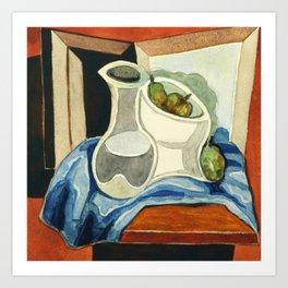 "Juan Gris ""Compotier et carafe"" Art Print"