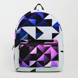 Purple Trangle Fade Backpack