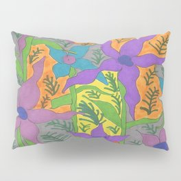 Violets in the Sky Boho Floral Pillow Sham