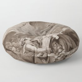 """Follower of François Boucher """"An allegorical subject, possibly the Triumph of Minerva"""" Floor Pillow"""