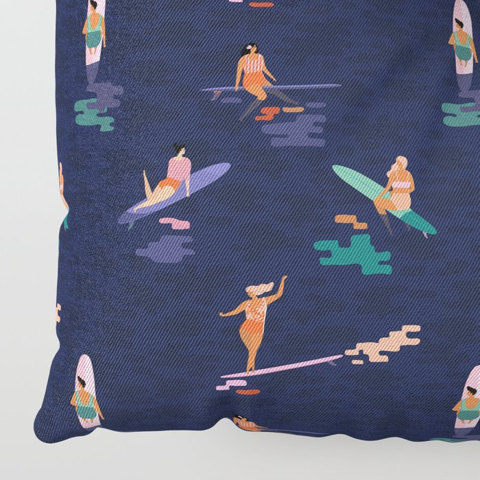 Surf goddes Floor Pillow