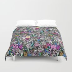 Gemstone Cats CYMK Duvet Cover
