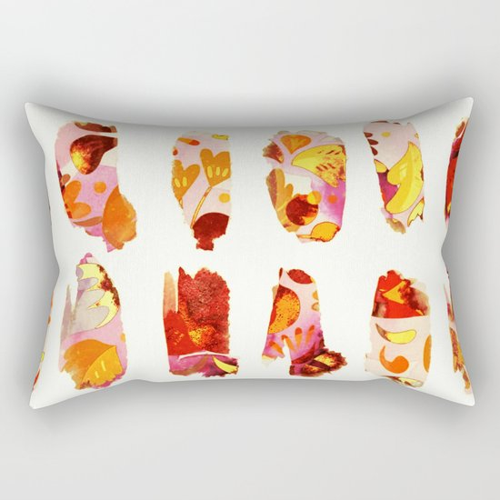 floral bits Rectangular Pillow