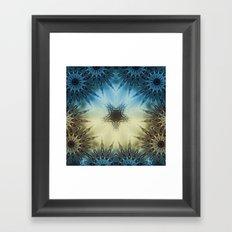 Fractal Scorpion Flower Mandala 2 Framed Art Print