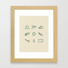 Outdoor Icons Framed Art Print