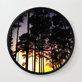 Sunset Silhouette Wall Clock