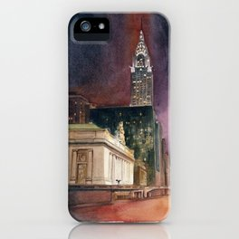 Grand Central Station and the Chrysler Building II iPhone Case