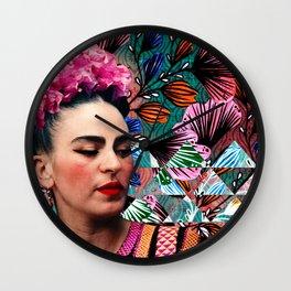 Flowery Frida Wall Clock