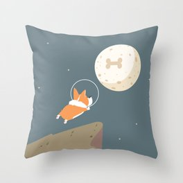 Fly to the moon Throw Pillow