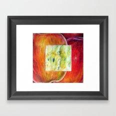 Fresh: Apple Framed Art Print