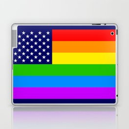 Gay USA Rainbow Flag - American LGBT Stars and Stripes Laptop & iPad Skin