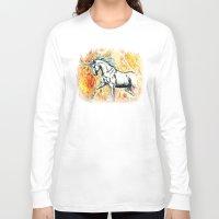 unicorn Long Sleeve T-shirts featuring Unicorn by Stephanie Stonato