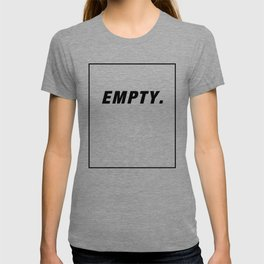 Empty Space In A Frame black T-shirt