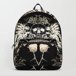 Skull Wings & White Roses Backpack