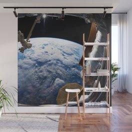 Astronaut in orbit Wall Mural