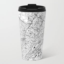 Vintage Map of Jersey City NJ (1967) BW Travel Mug