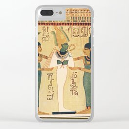 Ancient - The Children's Encyclopedia 1940s, A page from the Book of the Dead Clear iPhone Case