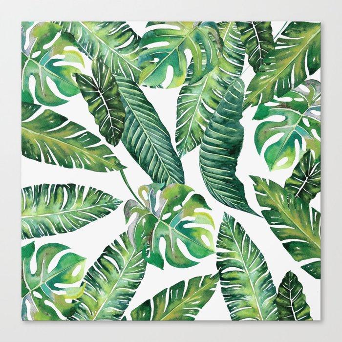 Jungle Leaves, Banana, Monstera #society6 Leinwanddruck