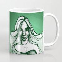emerald Mugs featuring Emerald by Sam Pea