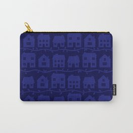 Cottage Charm in Navy Blue Carry-All Pouch