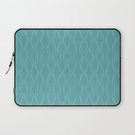 Whimsical Dots Pattern Aqua Laptop Sleeve