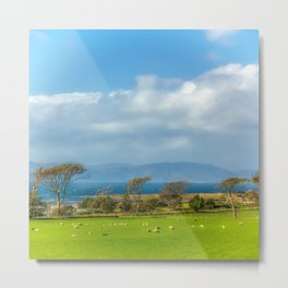 Isle of Arran from Portencross in Ayrshire Metal Print