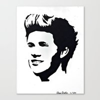 niall horan Canvas Prints featuring niall horan  by LexxieD