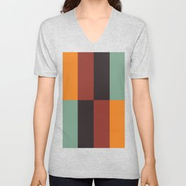 Stripes and swatches Unisex V-Neck