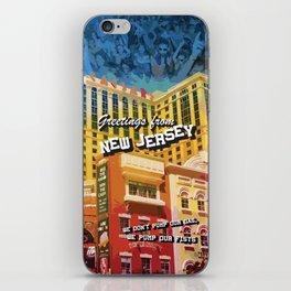 New Jersey Postcard iPhone Skin