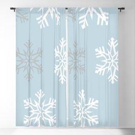 Pretty snow fall Blackout Curtain