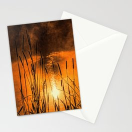 Sunrise at the lake /Sonnenaufgang am See Stationery Cards