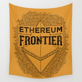 Ethereum Frontier (black on orange) Wall Tapestry