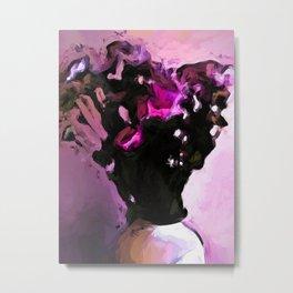 Flowers of Pink and Black 1 Metal Print
