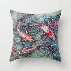 Harmony (Nishikigoi) Throw Pillow