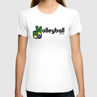 volleyball T-shirts featuring Volleyball Brazil by Skylar 83