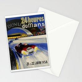 24hs Le Mans, 1958, vintage poster Stationery Cards