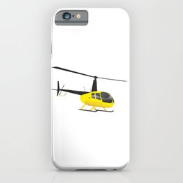 Light Black and Yellow Helicopter iPhone Case