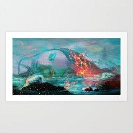 Burnt Out Art Print