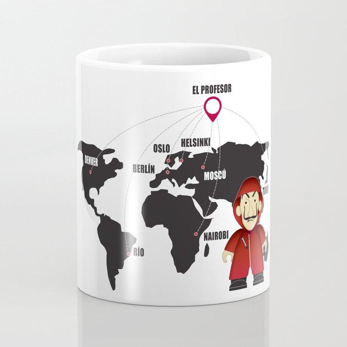 La casa de Papel Money Heist Map Coffee Mug