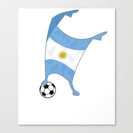 Argentina Flag Football Cup Soccer 2018 Dabbing World Canvas Print